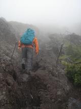 7合目あたりの溶岩地帯