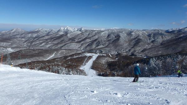 奥志賀高原スキー場は柔らかい雪質でした