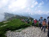 爺ヶ岳への稜線歩き
