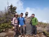 黒姫山山頂にて