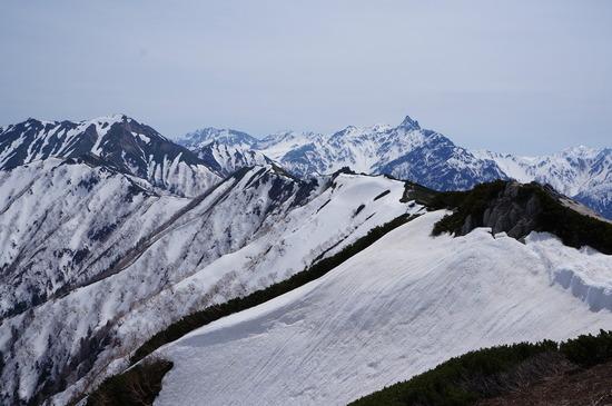 燕山荘さんから槍ヶ岳を望む