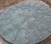 トモ岩展望台の表示板