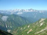 稜線からは剱岳・立山連峰の眺め♪