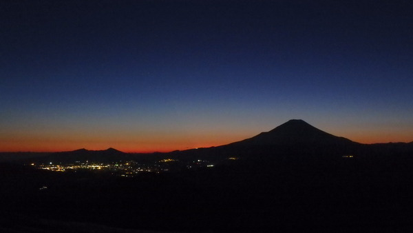 搭ノ岳山頂からの夕景