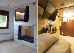 低所得者向け「ハチの巣」住宅が物議、日本のカプセルホテル参考  TV、WIFI付き 月額200ユーロ(約2万6000円)