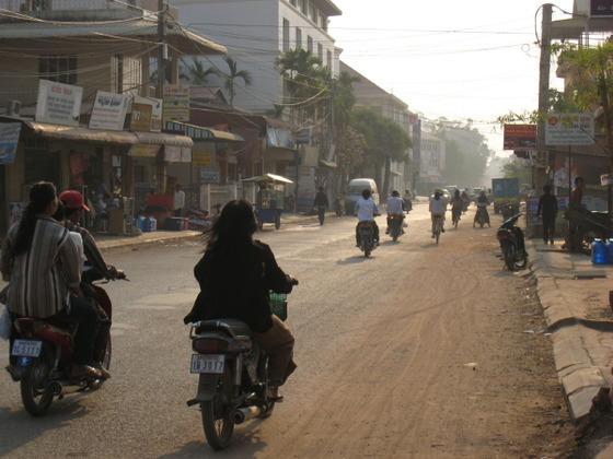 カンボジアの朝