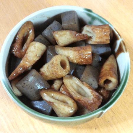 20171118_ちくわとこんにゃくの煮物