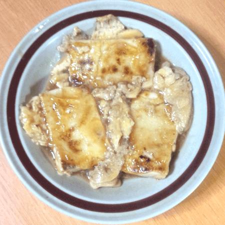 20171104_甘辛豆腐の卵とじ