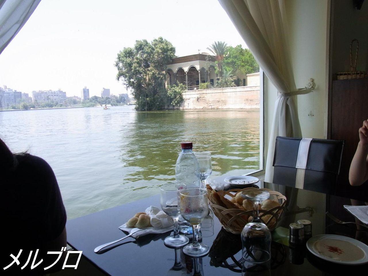 ナイル川の見えるレストラン