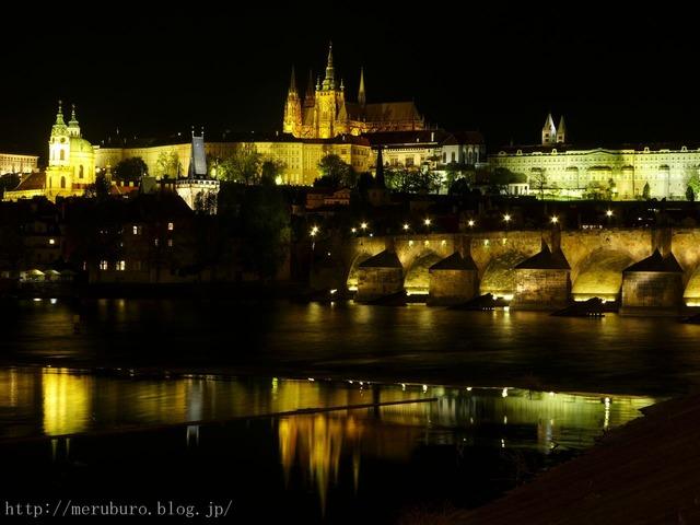 プラハ城の夜景 Prague Castle