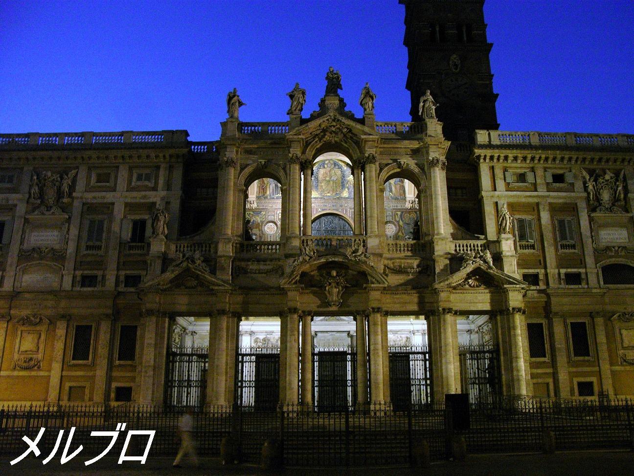 夜のマッジョーレ教会