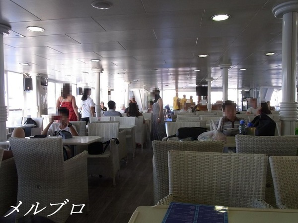 エーゲ海クルーズ 船の中
