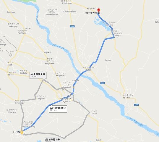 トプラク・カラの地図