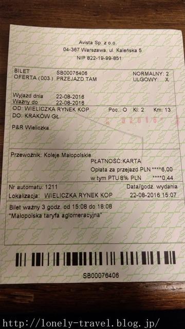 ポーランドの切符