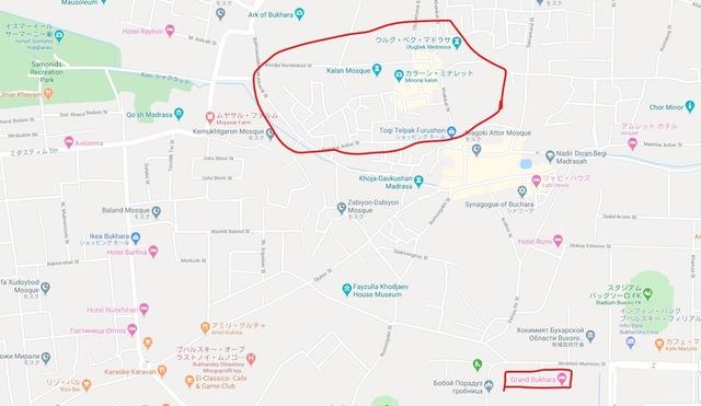 ブハラの地図