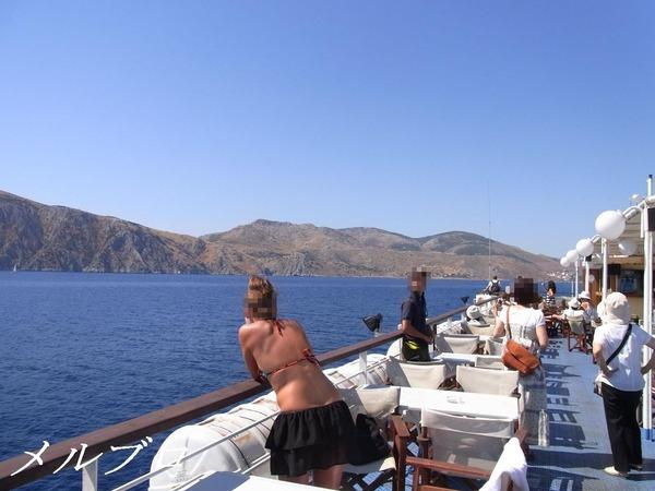 エーゲ海クルーズ 船上