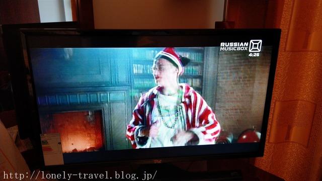 ブハラのホテルのテレビ
