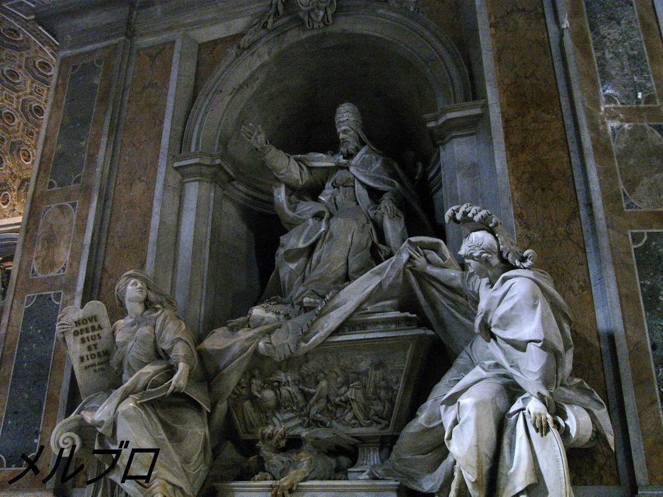 歴代法王の巨大像