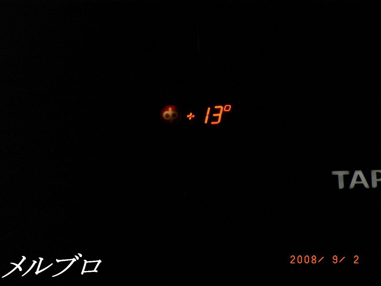 13℃ですって