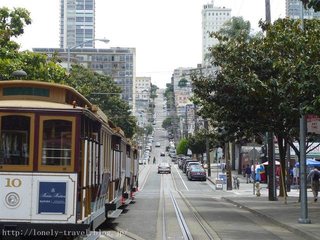 サンフランシスコのケーブルカー テイラー通り