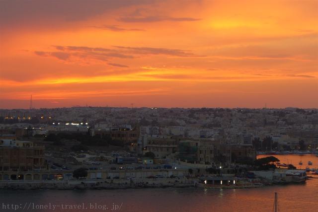 ヴァレッタの夕日 Valletta