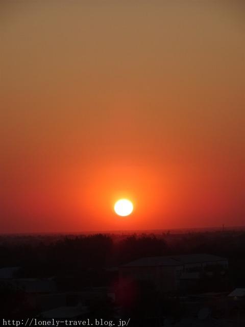 ヒヴァの夕日