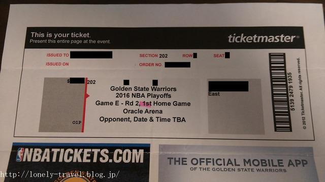 NBAプレイオフのチケット