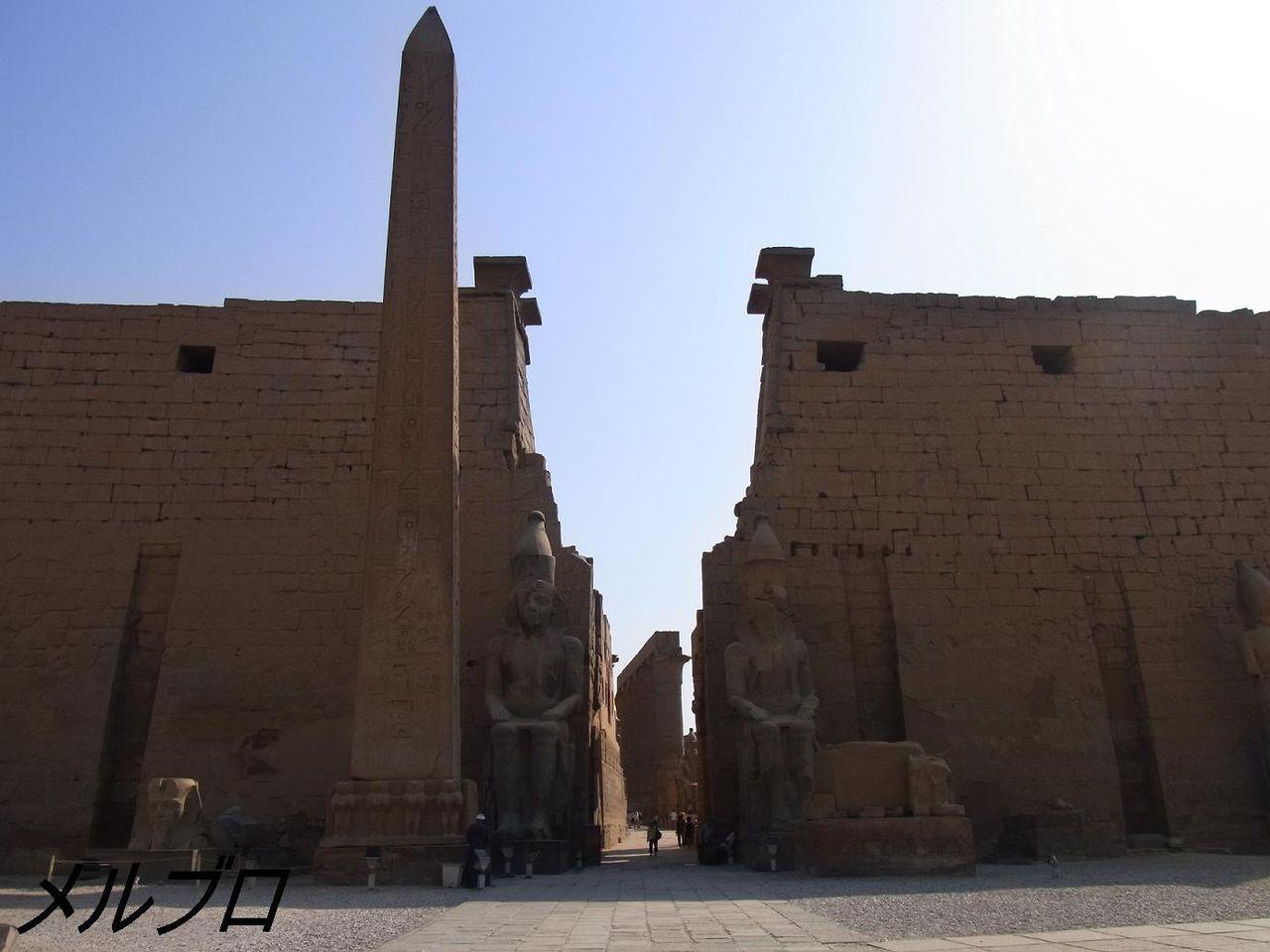 ルクソール神殿入り口