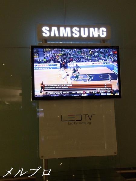 バルセロナの空港のTV
