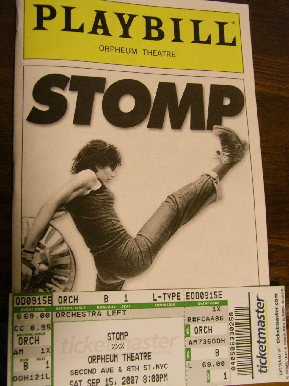 STOMPチケット