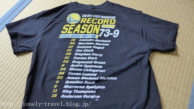 ウォリアーズ73勝記念Tシャツ