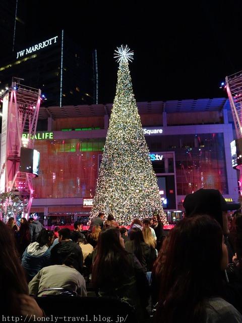 ロサンゼルスのクリスマスツリー