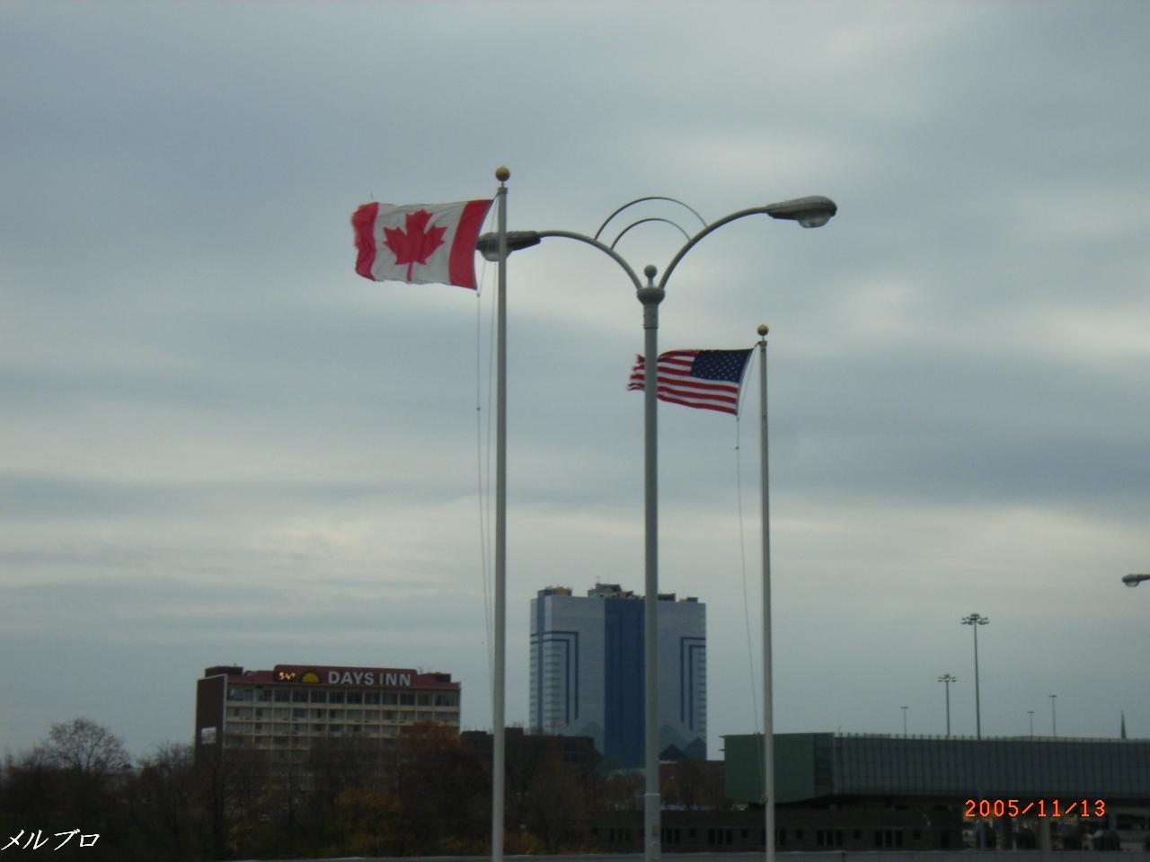 旗がはためいています!