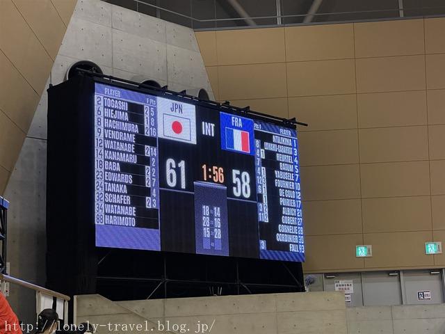 バスケ フランスVS日本