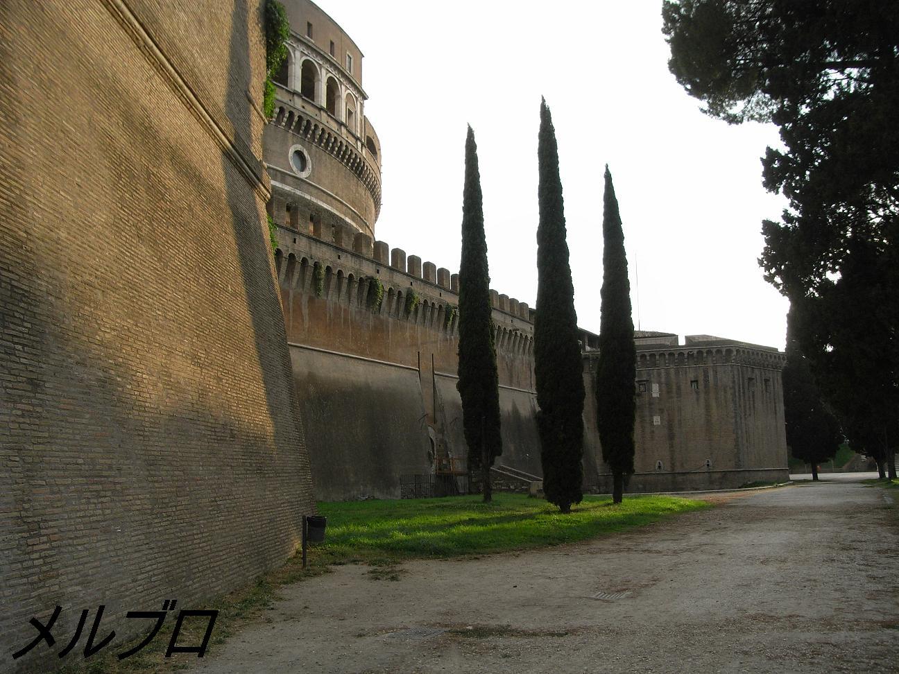 サンタンジェロ城の後ろ