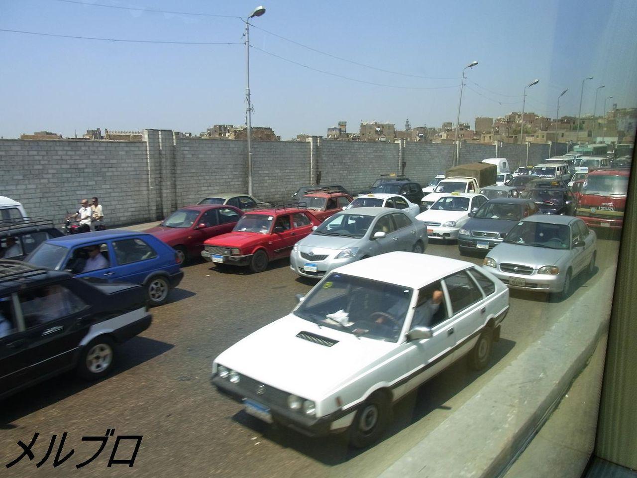 エジプトの渋滞
