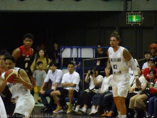 バスケ ニュージーランドVS日本