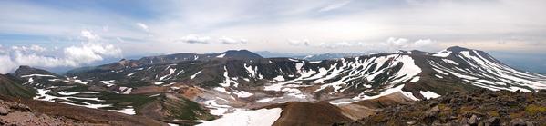 北鎮岳山頂パノラマ