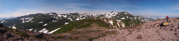 黒岳山頂パノラマ