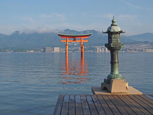 厳島神社 火焼前から大鳥居