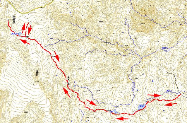 焼石岳 地図