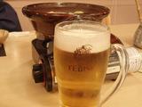 ビールと鍋