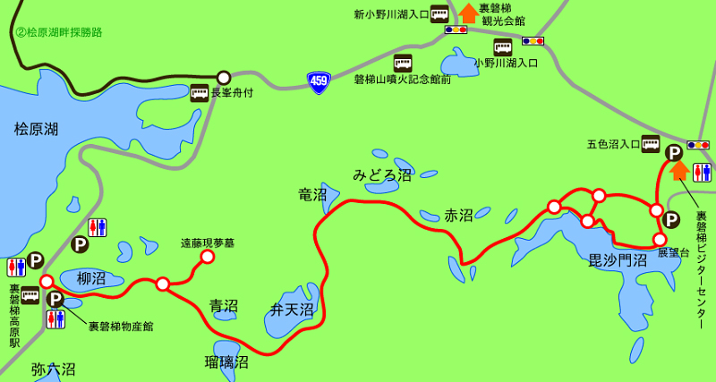 五色沼自然探勝路MAP