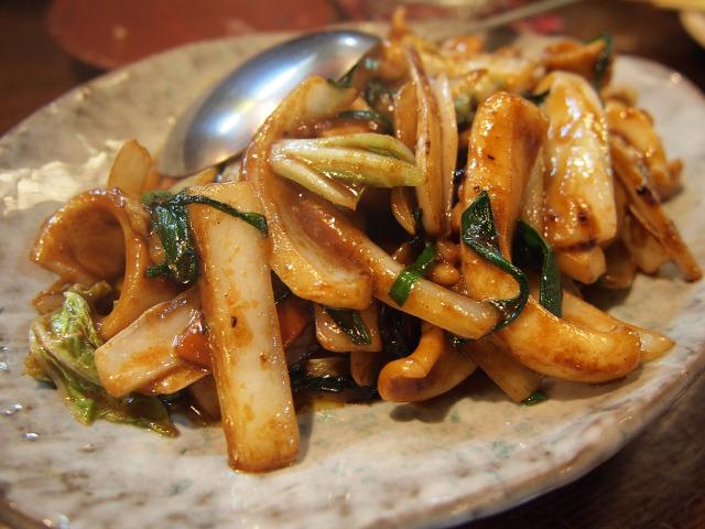 イカ野菜炒め