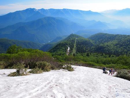 7合目上の雪渓