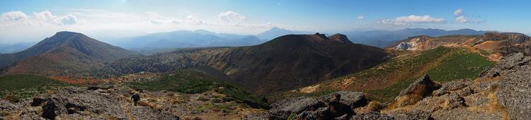 安達太良山山頂から
