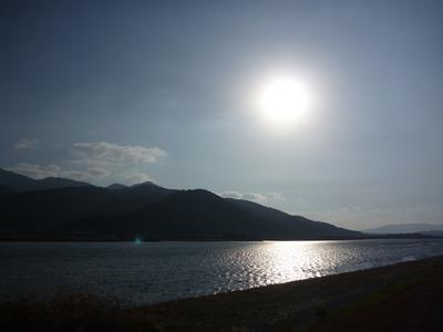 肝属川河口、いい天気でした。