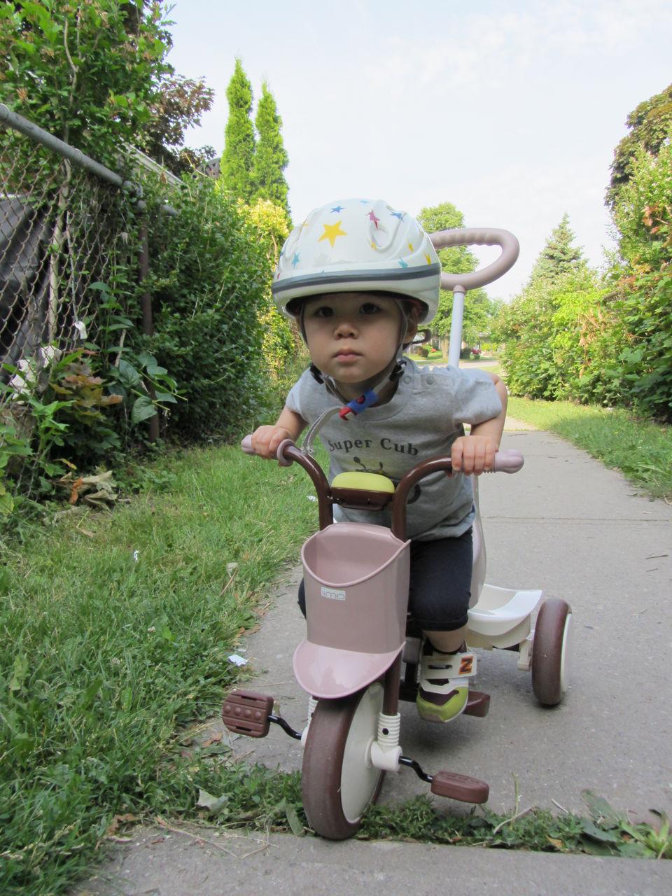 自転車の 1歳 自転車 後ろ : もう時差ぼけ満開やったからね ...