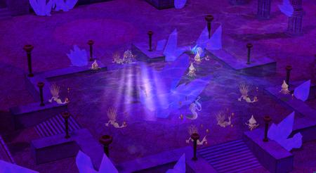 紫色の深海洞窟 上層