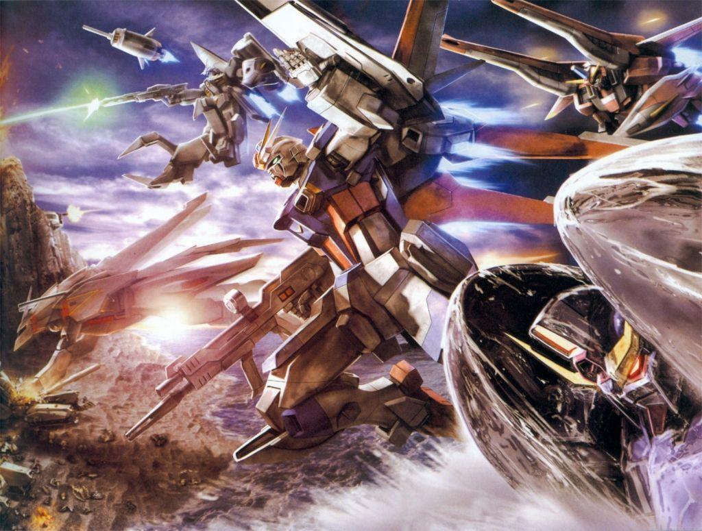 戦闘するガンダム画像